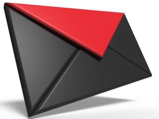 Mail. 3D illustration. 3D CG.