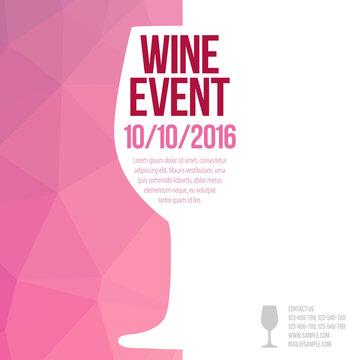 Design for wine event.
