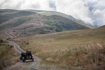 Sidecar motorcycle offroad