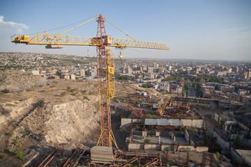 Crane at construction site