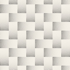 Vector Seamless Black and White Stippling Halftone Gradient Rectangles Pattern