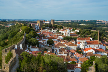 Old town, fortress, Obidos, Portugal
