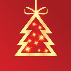 Christmas and New Year vector illustration