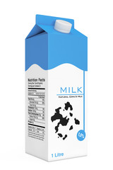 Milk Carton Box. 3d Rendering