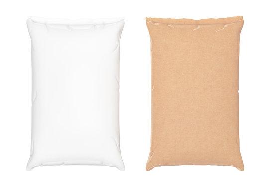 Blank Paper Sacks Cement Bags. 3d Rendering
