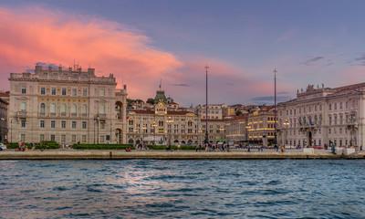 Piazza Dell Unita D'Italia in the city of Trieste Italy