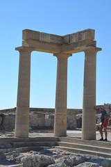 Griechenland, Rhodos, Lindos, Akropolis, Säulen 544
