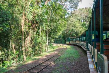 Train station inside the Puerto Iguazu national park, Argentina