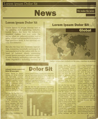 Newspaper news flat image