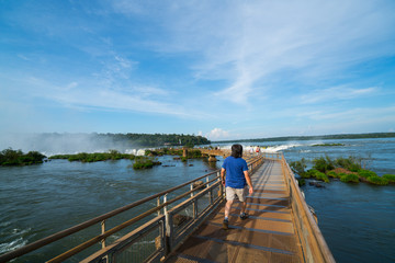 The walk way entrance to Garganta del Diablo, Peurto Iguazu Wate