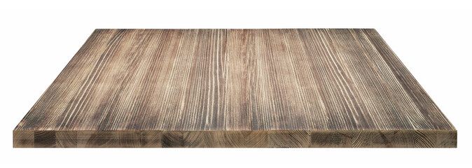 isolated rustic tabletop