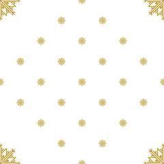 Golden vintage decor seamless pattern. Vector illustration for your design