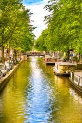 Scenic Amsterdam Canal