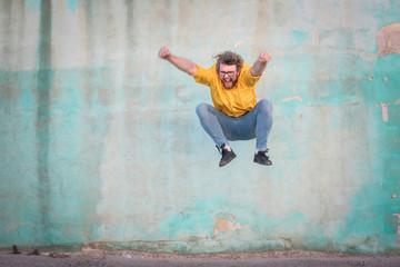 Jumping man Wall mural