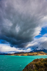 Giant cloud over lake Pehoe