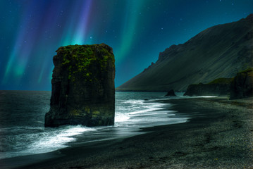 Iceland south coast monolith Wall mural