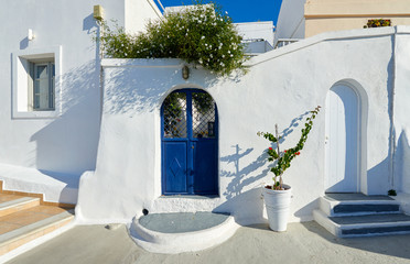 Beautiful streets of Imerovigli , Santorini