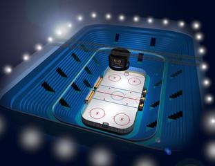 Ice hockey stadium arena 3D illustration