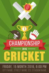 Cricket poster