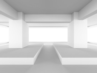 Abstract geometric Architecture White Background