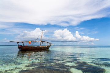Fisherman boat, Zanzibar Island, Tanzania