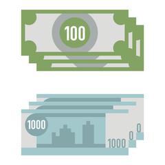Paper money vector illustration.