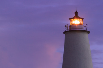 Ocracoke Light Shining at Dawn - North Carolina Outer Banks