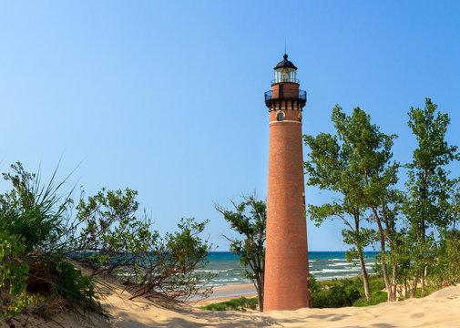 Lighthouse at Little Sable Point, Michigan's Lake Michigan Coast