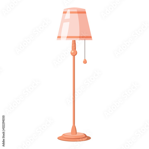 Quot Floor Lamp On A Long Stalk Icon In Cartoon Style Isolated
