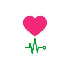 EKG. Life Icon Vector