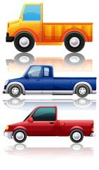 Three different kinds of trucks