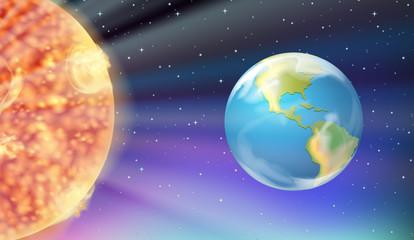 Earth and the Sun in galaxy