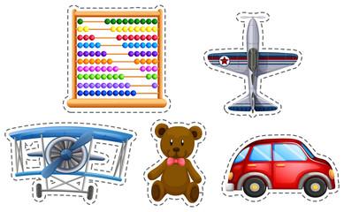 Sticker set of many toys