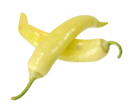 two banana peppers