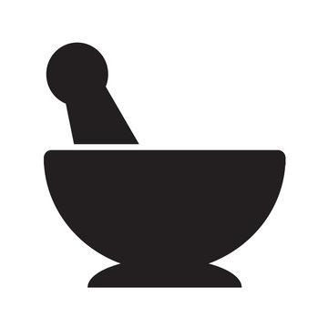 Mortar pestle icon illustration design