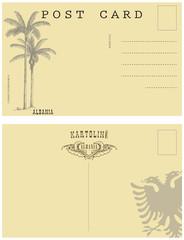 Vintage postcard Albania