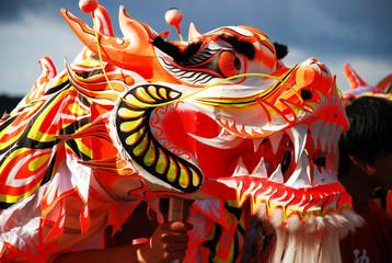 Chinese New Year Vibrant Dancing Dragon Head