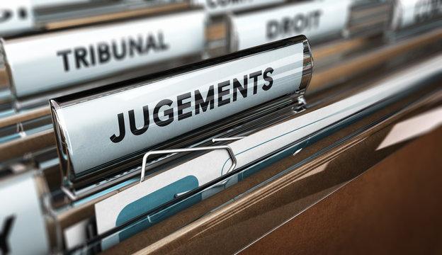 Dossier d'avocat jugement au tribunal