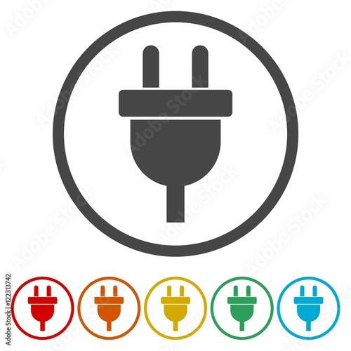 "Plug Power Stock Quote: ""Electric Plug Sign Icon. Power Energy Symbol"" Stock Image"