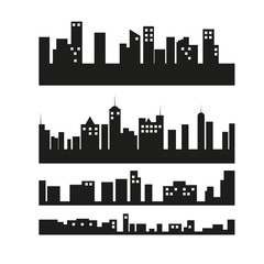 Cities silhouettes Vector
