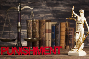 Punishment, Justice concept, Court gavel,Law theme, mallet of ju