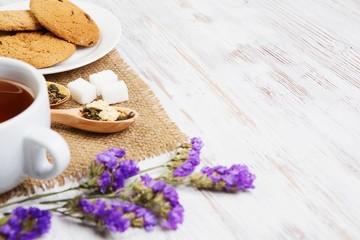 Herbal tea and cookies