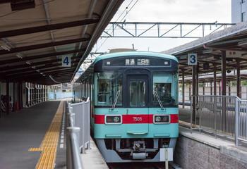 Nishitetsu railways, classic train at dazaifu ,FUKUOKA, JAPAN