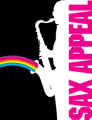 Sax Appeal with rainbow