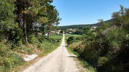 Pilgrims, Road to Compostela, pilgrims Road to French Santiago de Compostela, Galicia, Spain, landscapes in the pilgrimage to Santiago de Compostela