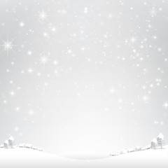 Star night and snow fall bakcground vector illustration 003