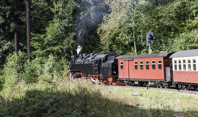 steam train from brocken to wernigerode
