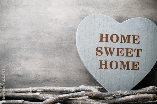 quot home sweet home interior decor rustic heart quot stock