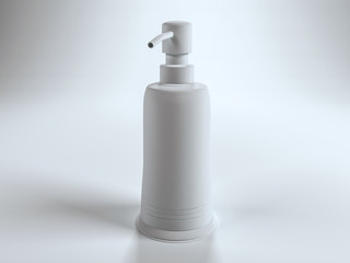 Single blank pump top lotion container