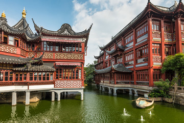 Foto op Aluminium Shanghai Yu Garden or Yuyuan Garden, Shanghai